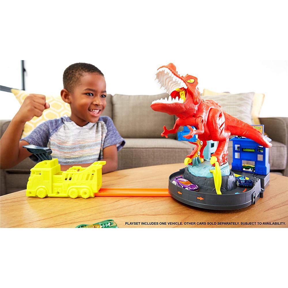Pista E Acessório Hot Wheels City T-Rex Demolidor GFH88 Mattel