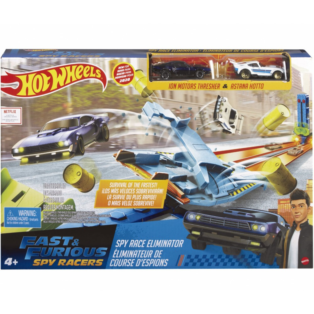 Pista Hot Wheels De Desafios Spy Racers GNP95 Mattel
