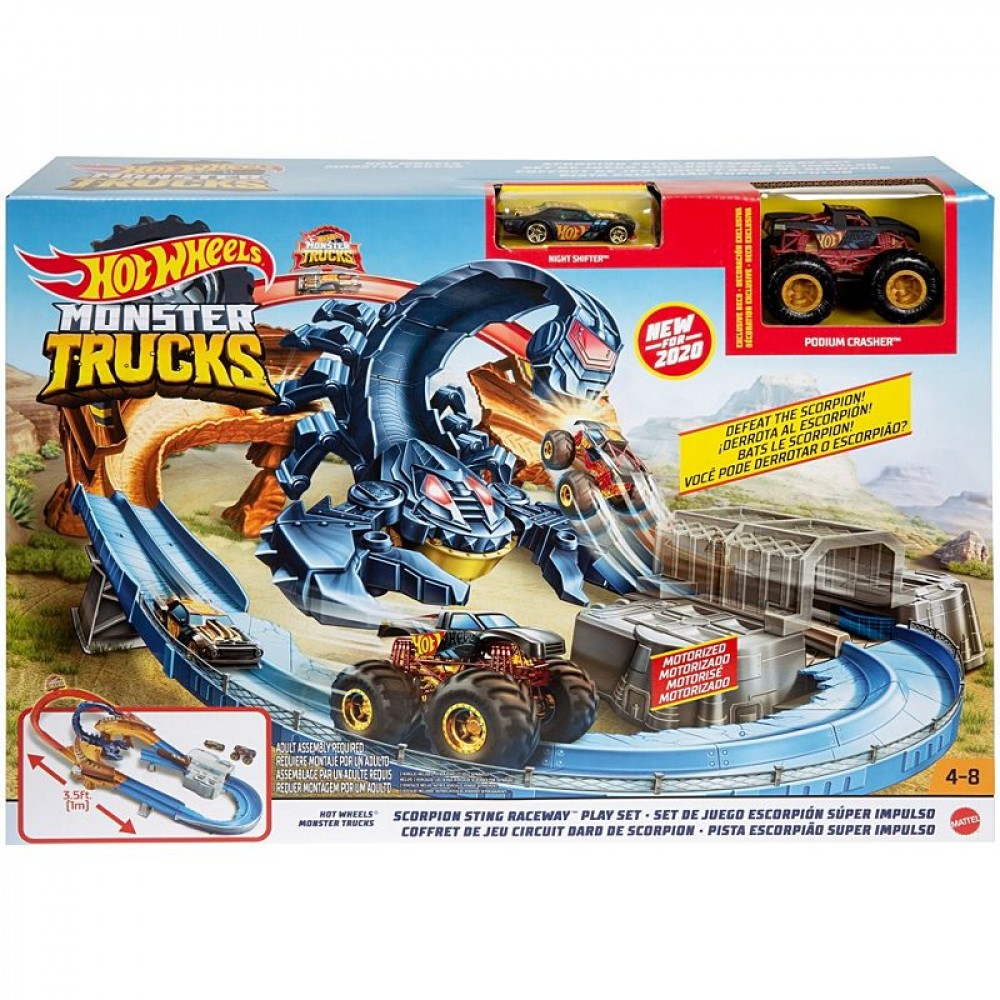 Pista Hot Wheels Monster Trucks Escape Do Escorpião GNB05 Mattel