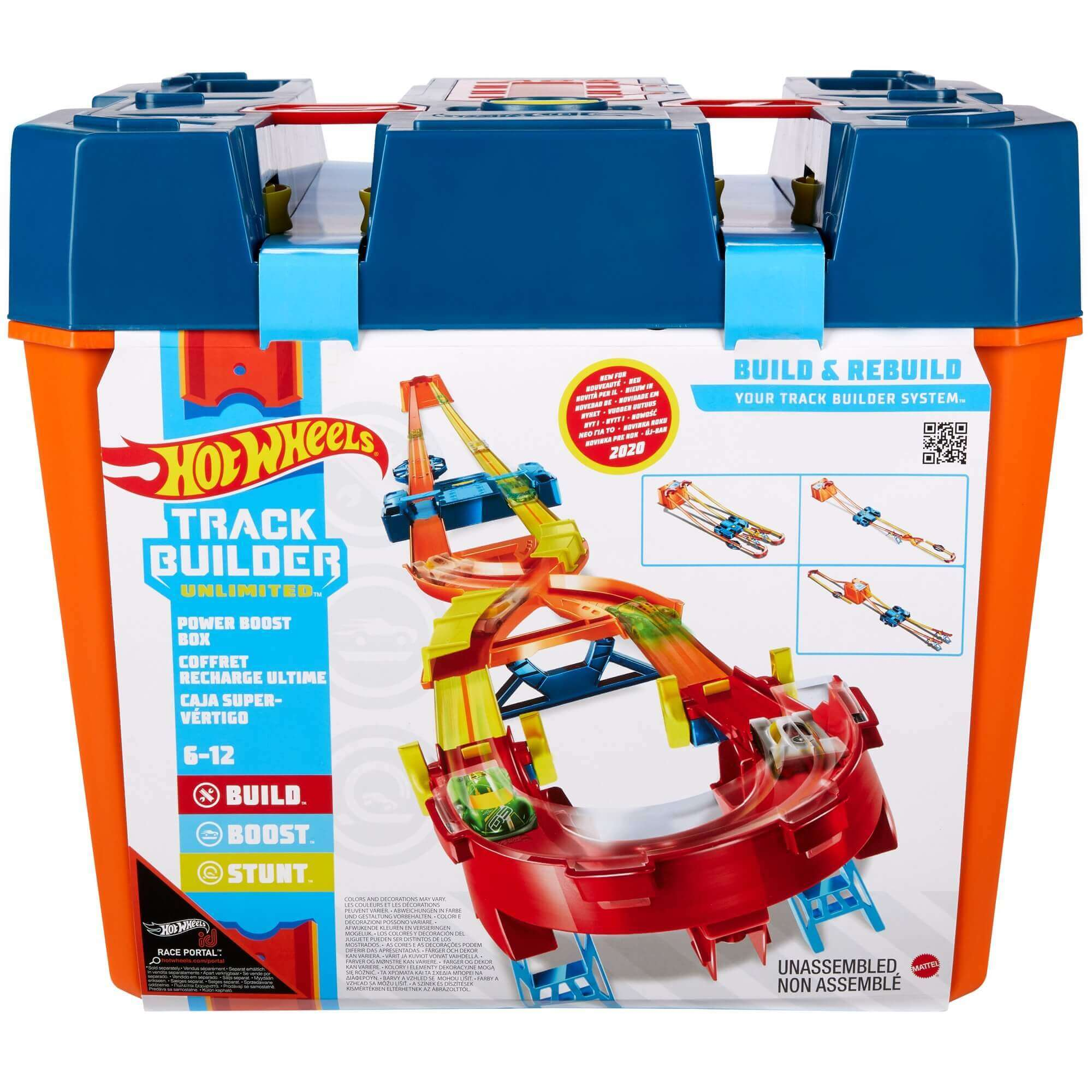 Pista Hot Wheels Track Builder Mega Caixa GNJ01 Mattel