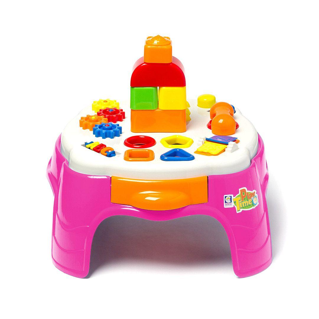 Play Time Mesa De Atividades Rosa  2049 Cotiplas
