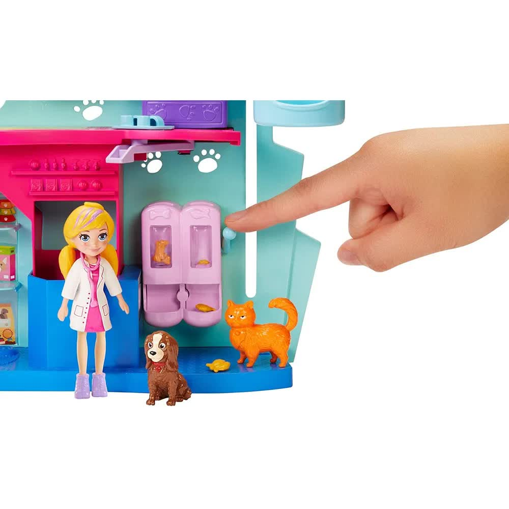 Polly Pocket Clinica Veterinária GKL47 Mattel