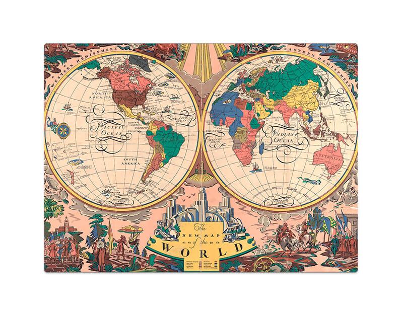 Quebra-Cabeça 1000 Peças O Novo Mapa Do Mundo 1928 Toyster
