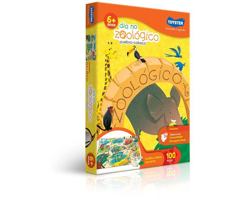 Quebra-Cabeça 100 Peças Dia No Zoológico 2267 Toyster