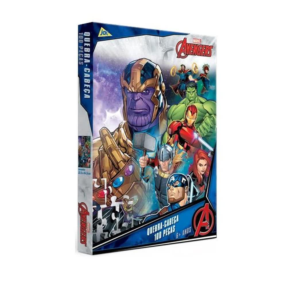 Quebra-Cabeça 100 Peças Encapado Os Vingadores 2749 Toyster