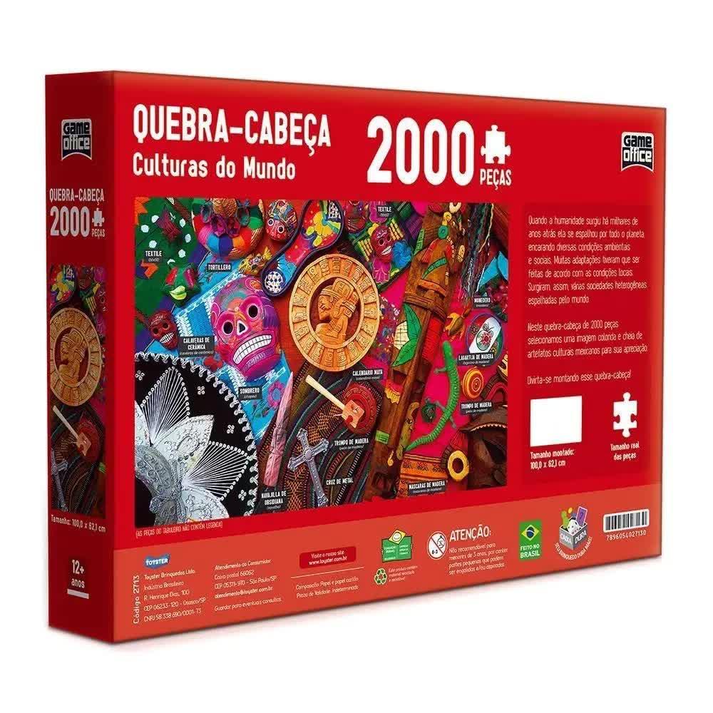 Quebra-Cabeça 2000 Peças Culturas Do Mundo 2713 Toyster