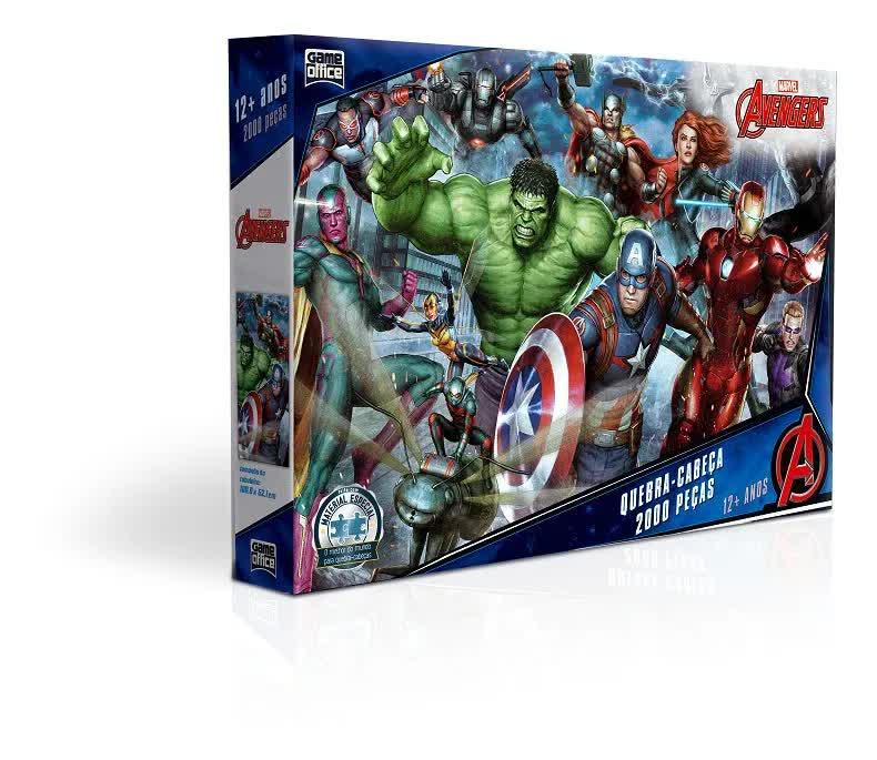 Quebra-Cabeça 2000 Peças Os Vingadores 2737 Toyster