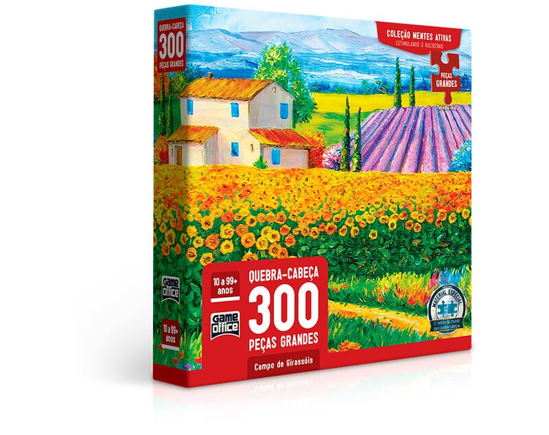 Quebra-Cabeça 300 Peças Campo De Girassóis 2760 Toyster