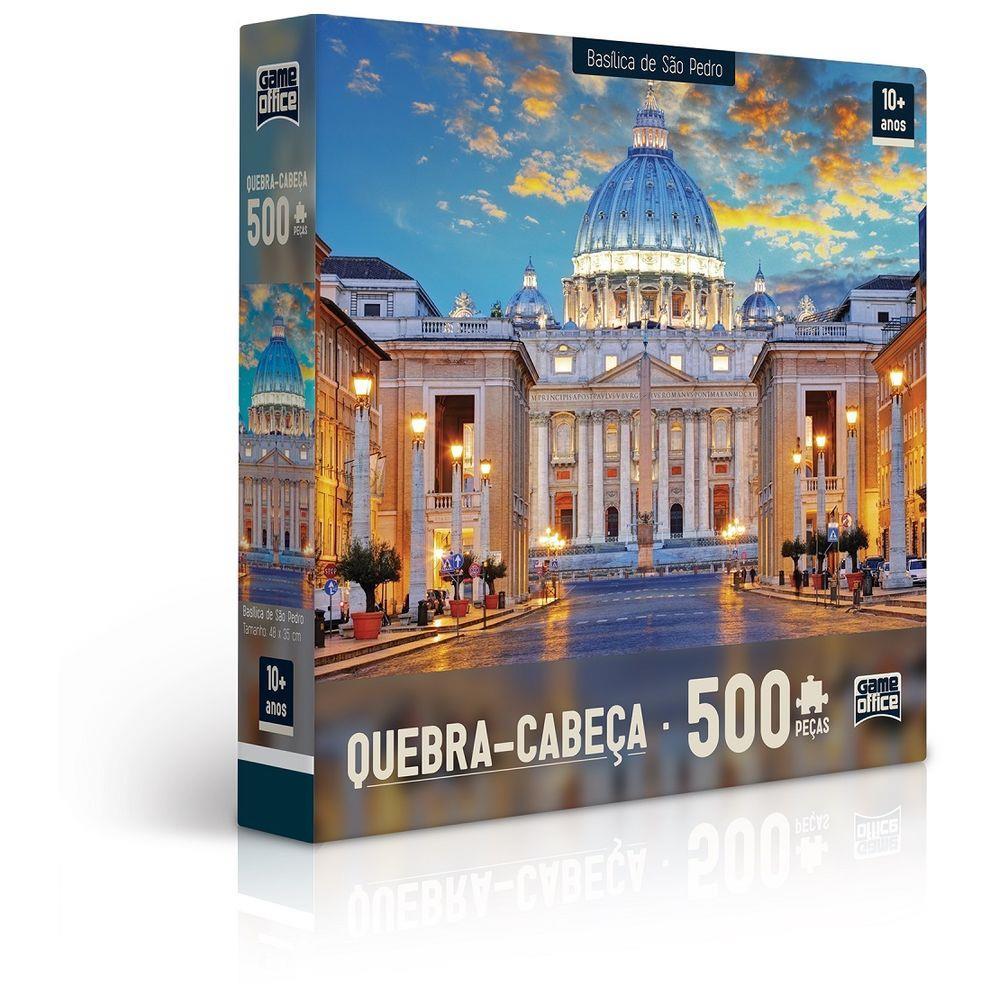 Quebra-Cabeça 500 Peças Basílica de São Pedro e Catedral de São Basílio 2305 Toyster