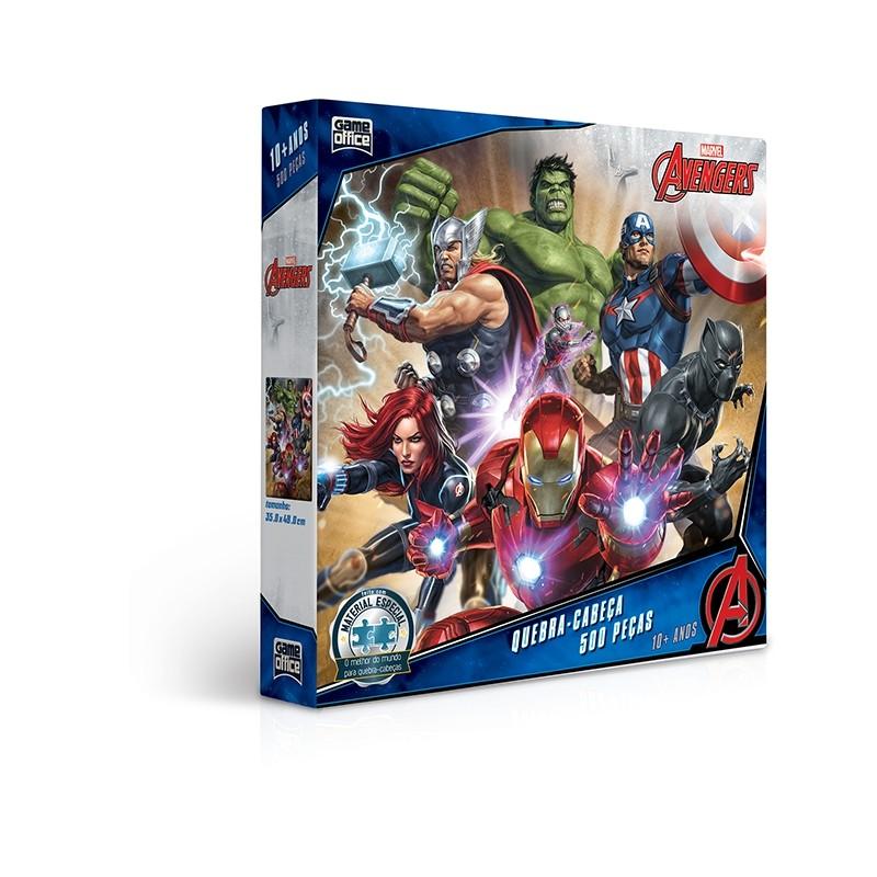 Quebra-Cabeça 500 Peças Os Vingadores 2745 Toyster