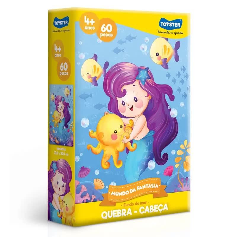 Quebra-Cabeça 60 Peças Mundo Da Fantasia 2572 Toyster
