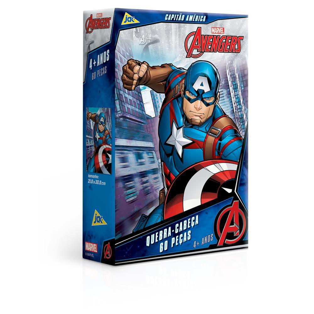 Quebra-Cabeça 60 Peças Os Vingadores Capitão América Toyster