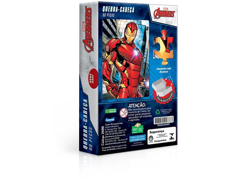 Quebra-Cabeça 60 Peças Os Vingadores Homem De Ferro 2686 Toyster