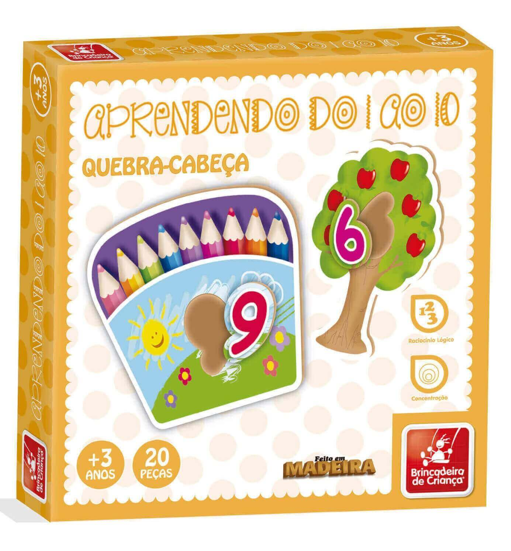 Quebra-Cabeça Aprendendo Números Do 1 Ao 10 Brincadeira De Criança
