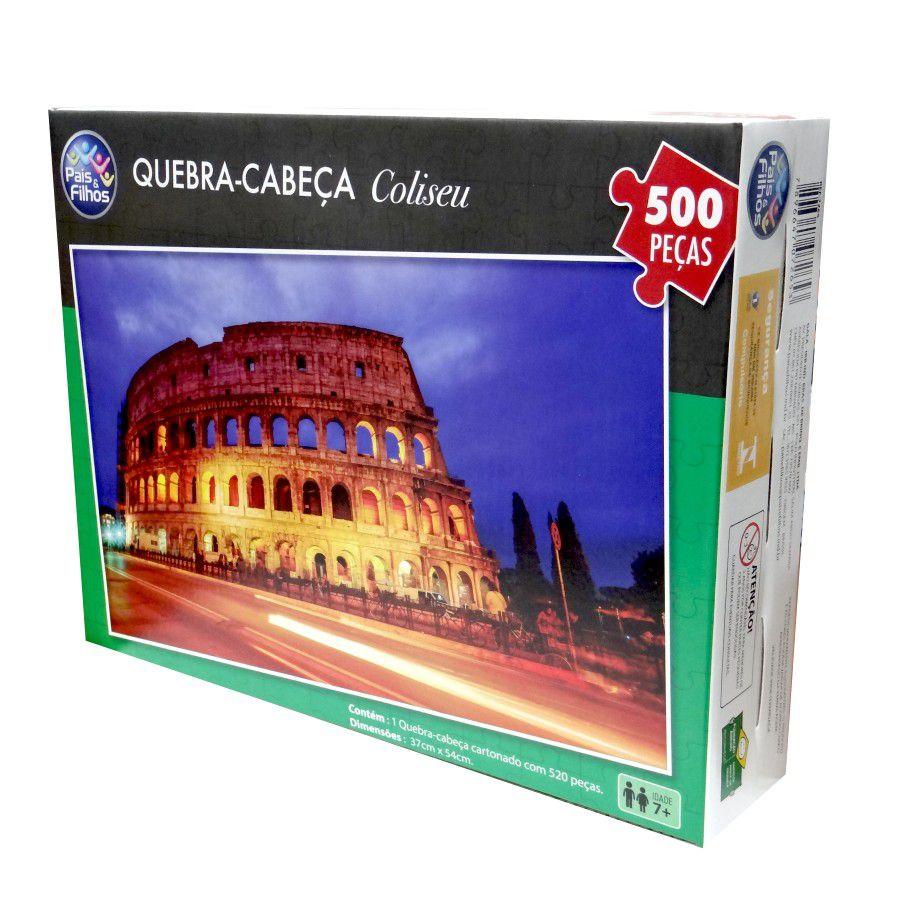 Quebra-Cabeça Cartonado Coliseu 500 Peças Pais e Filhos