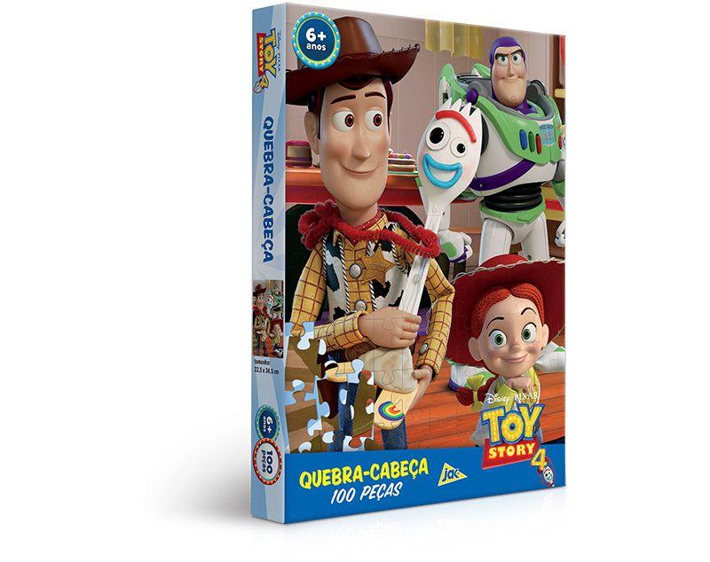 Quebra Cabeça Cartonado Toy Story 4 100 Peças 2630 Toyster