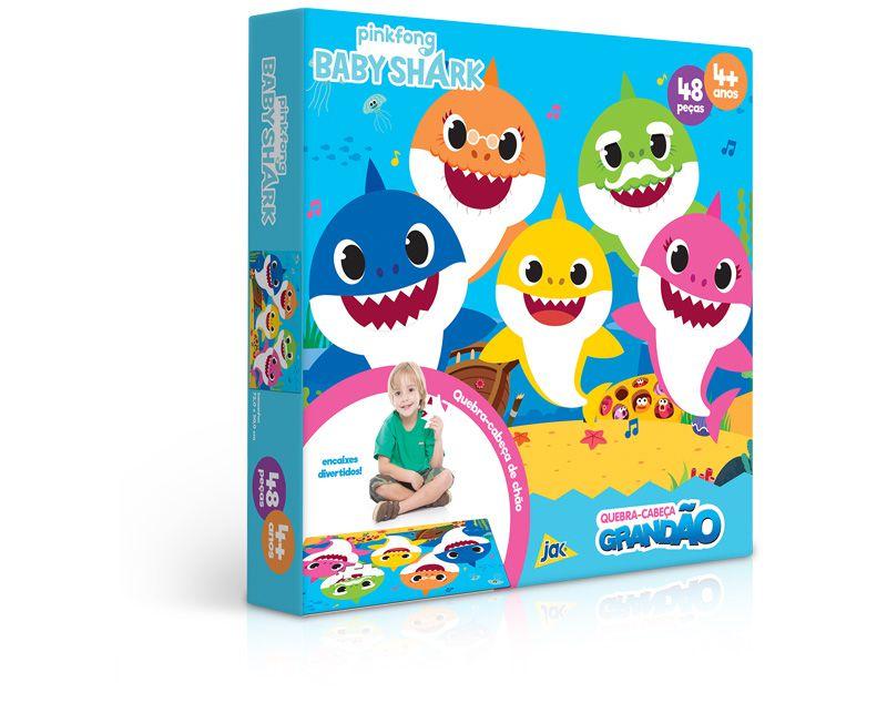Quebra-Cabeça Grandão 48 Peças Baby Shark 2647 Toyster
