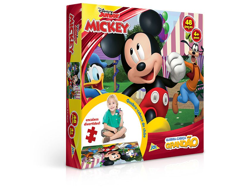 Quebra-Cabeça Grandão 48 Peças Mickey 2583 Toyster