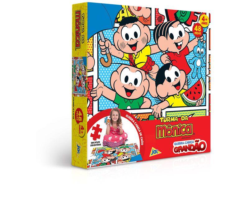 Quebra-Cabeça Grandão 48 Peças Turma Da Monica 2240 Toyster