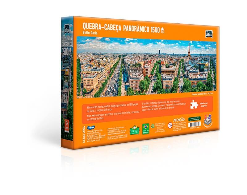 Quebra-Cabeça Panorâmico 1500 Peças Belle Paris 2764 Toyster
