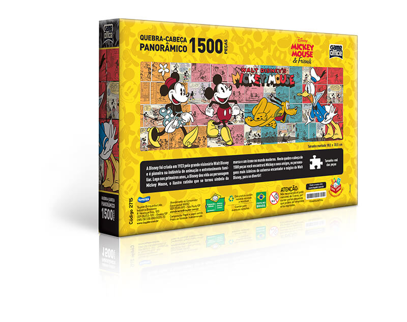 Quebra-Cabeça Panorâmico 1500 Peças Turma Do Mickey 2715 Toyster