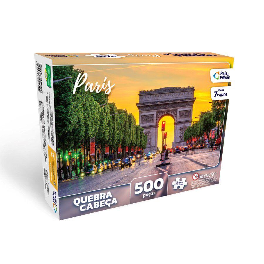 Quebra Cabeça Paris 500 Peças 2978 Pais E Filhos