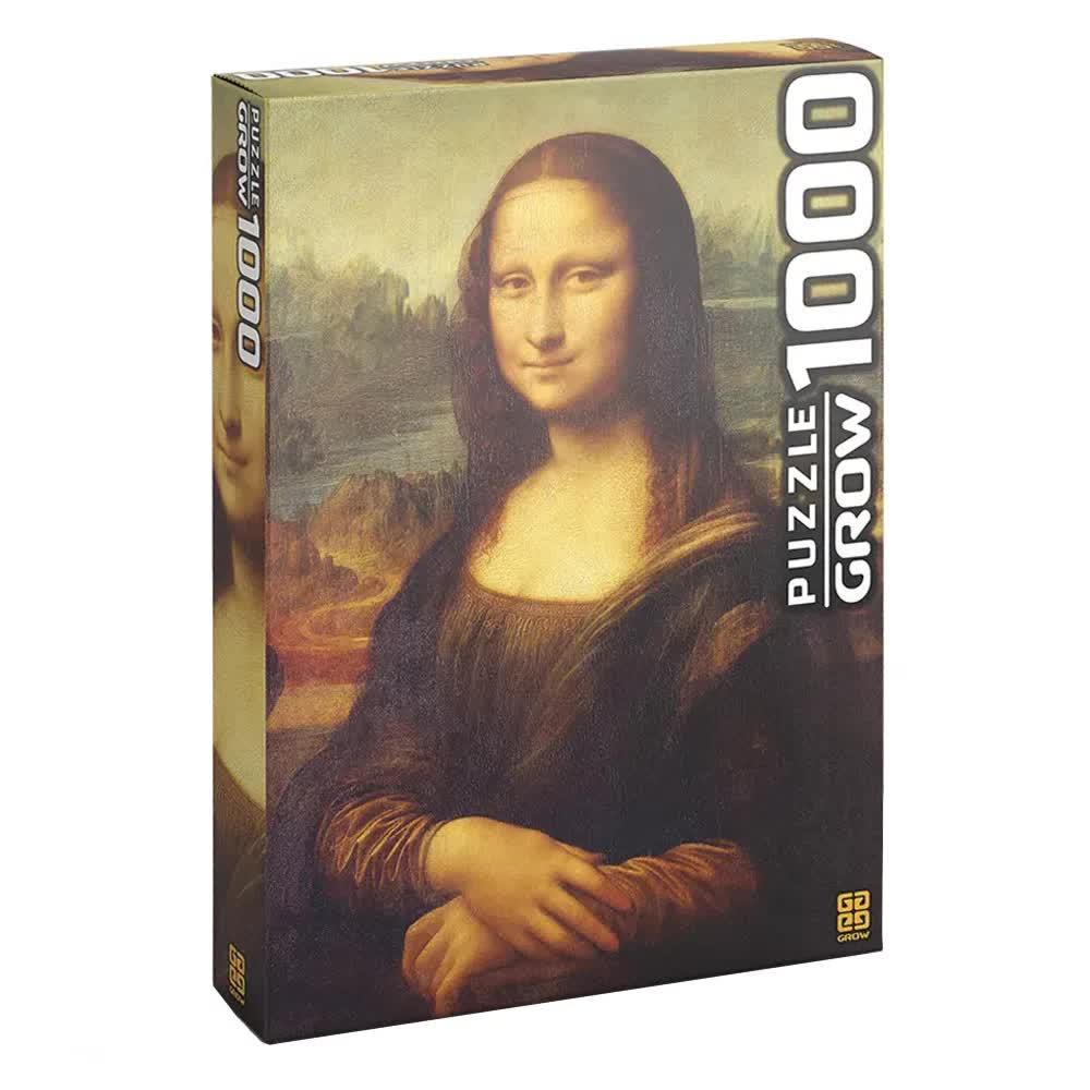 Quebra-Cabeça Puzzle 1000 Peças Monalisa 03089 Grow
