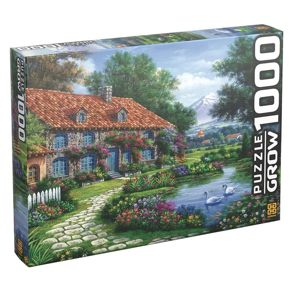 Quebra-Cabeça Puzzle 1000 Peças Recanto Dos Cisnes 3458 Grow