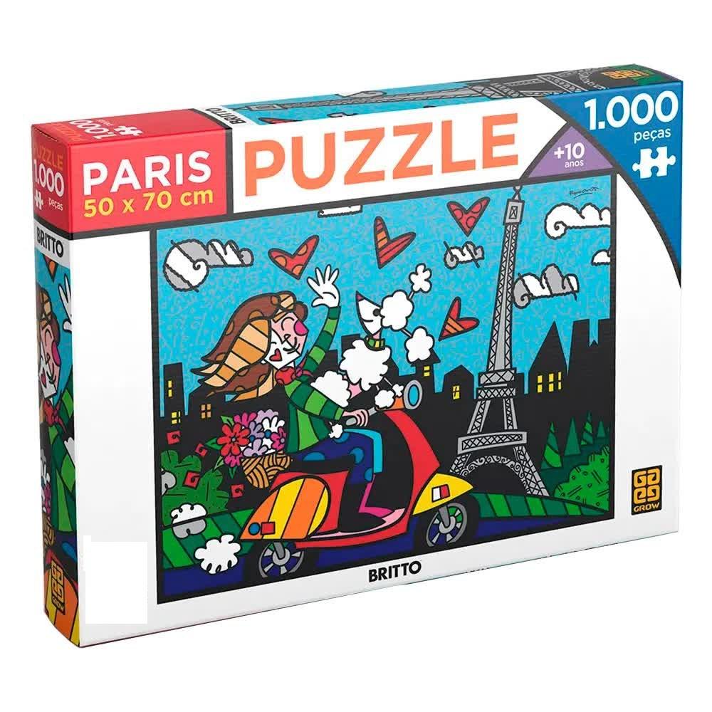 Quebra-Cabeça Puzzle 1000 Peças Romero Britto Paris 3746 Grow