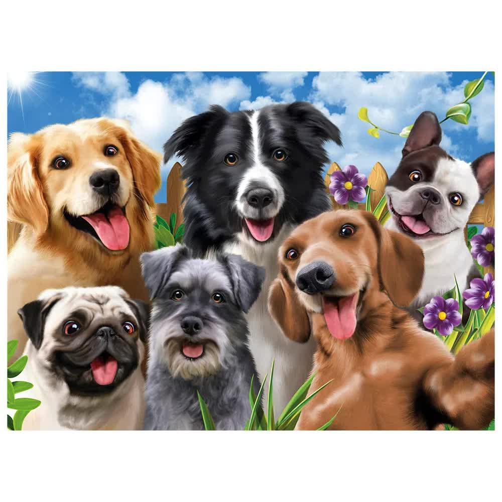 Quebra-Cabeça Puzzle 500 Peças Selfie Pets 03742 Grow