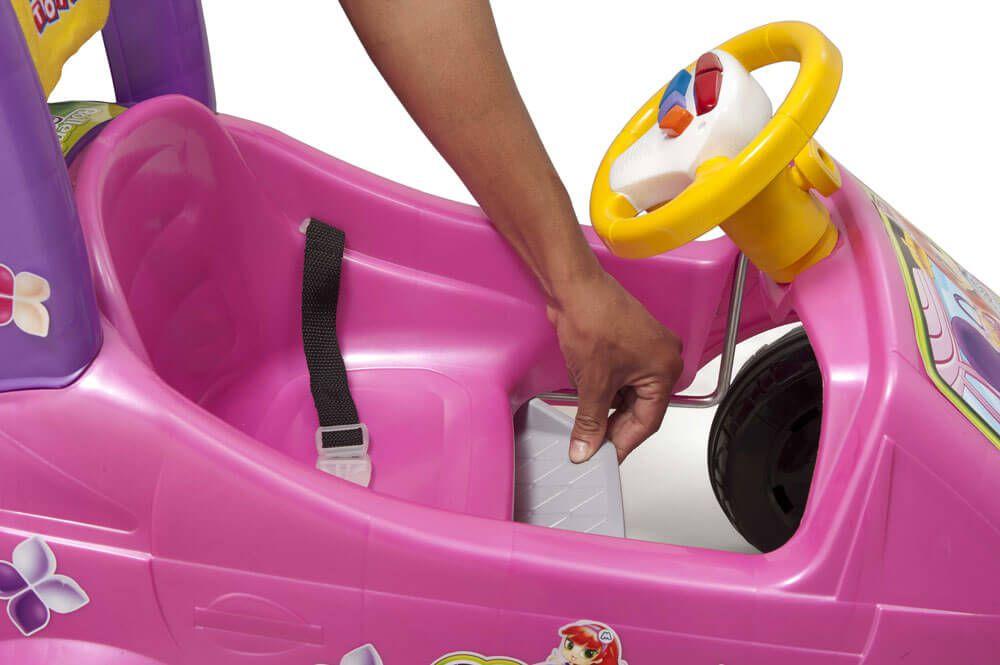 Roller Baby Versátil Meg Passeio E Pedal Rosa 1035 Magic Toys