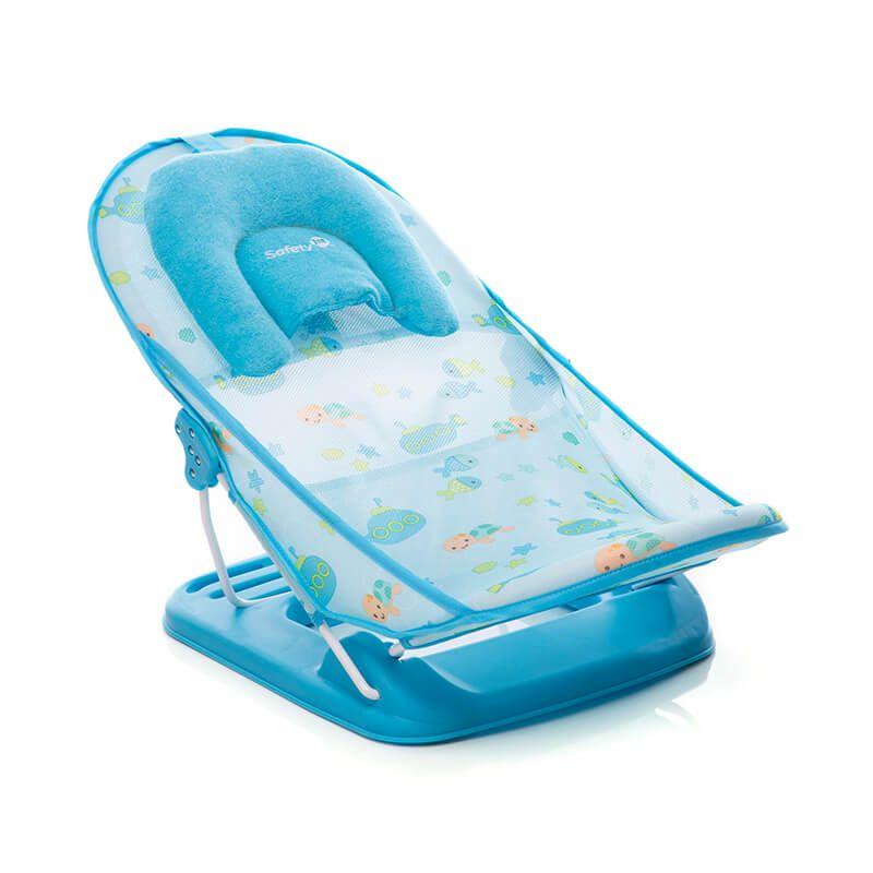 Suporte Para Banho Baby Shower Azul Safety