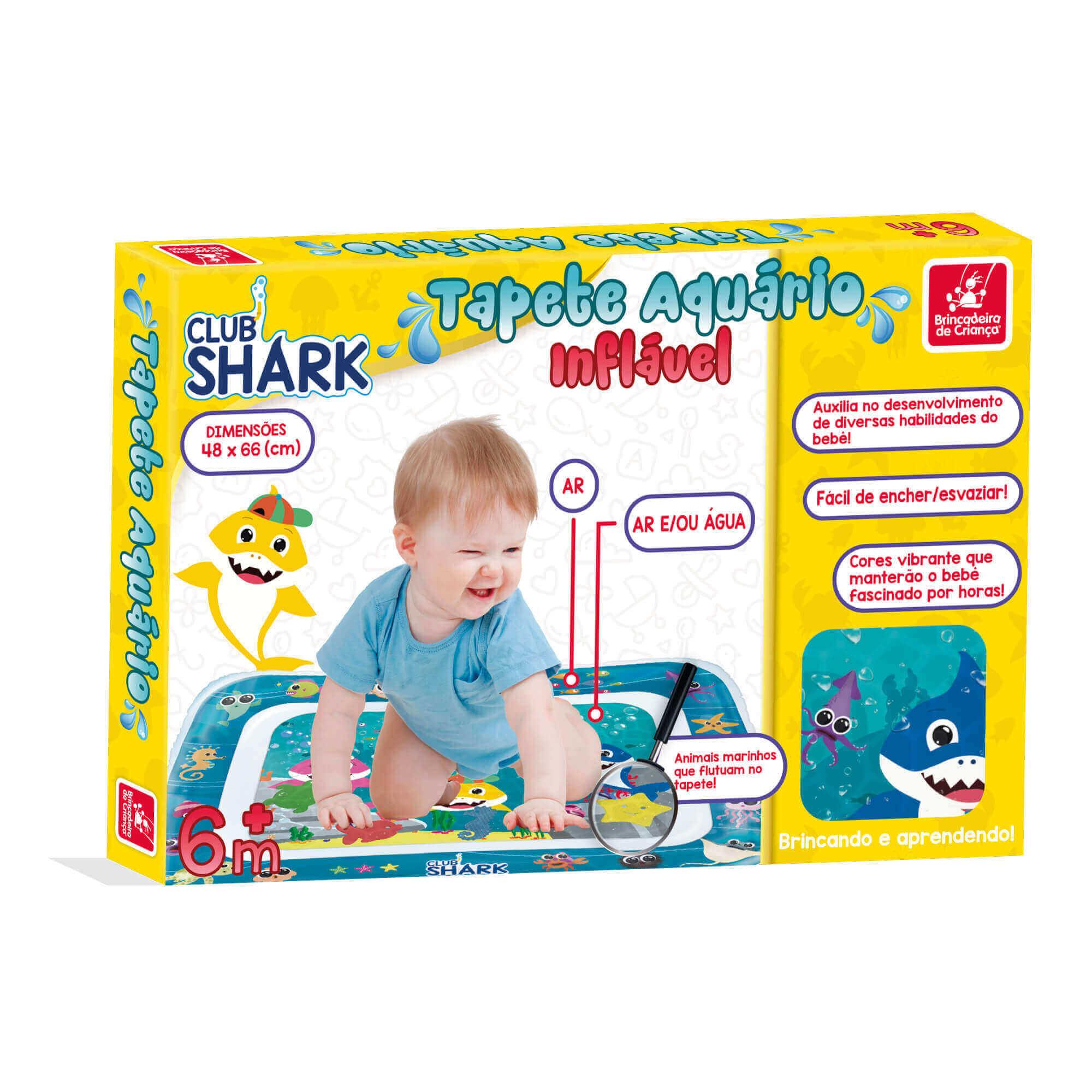 Tapete Inflavel Aquario Club Shark 3052 Brincadeira De Criança