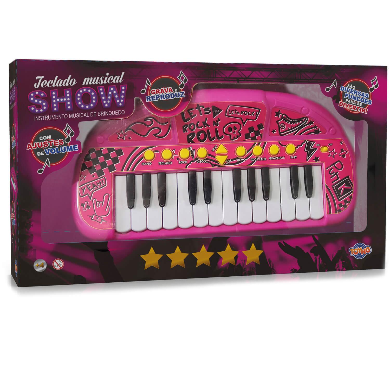 Teclado Eletrônico Musical Infantil Show Toyng