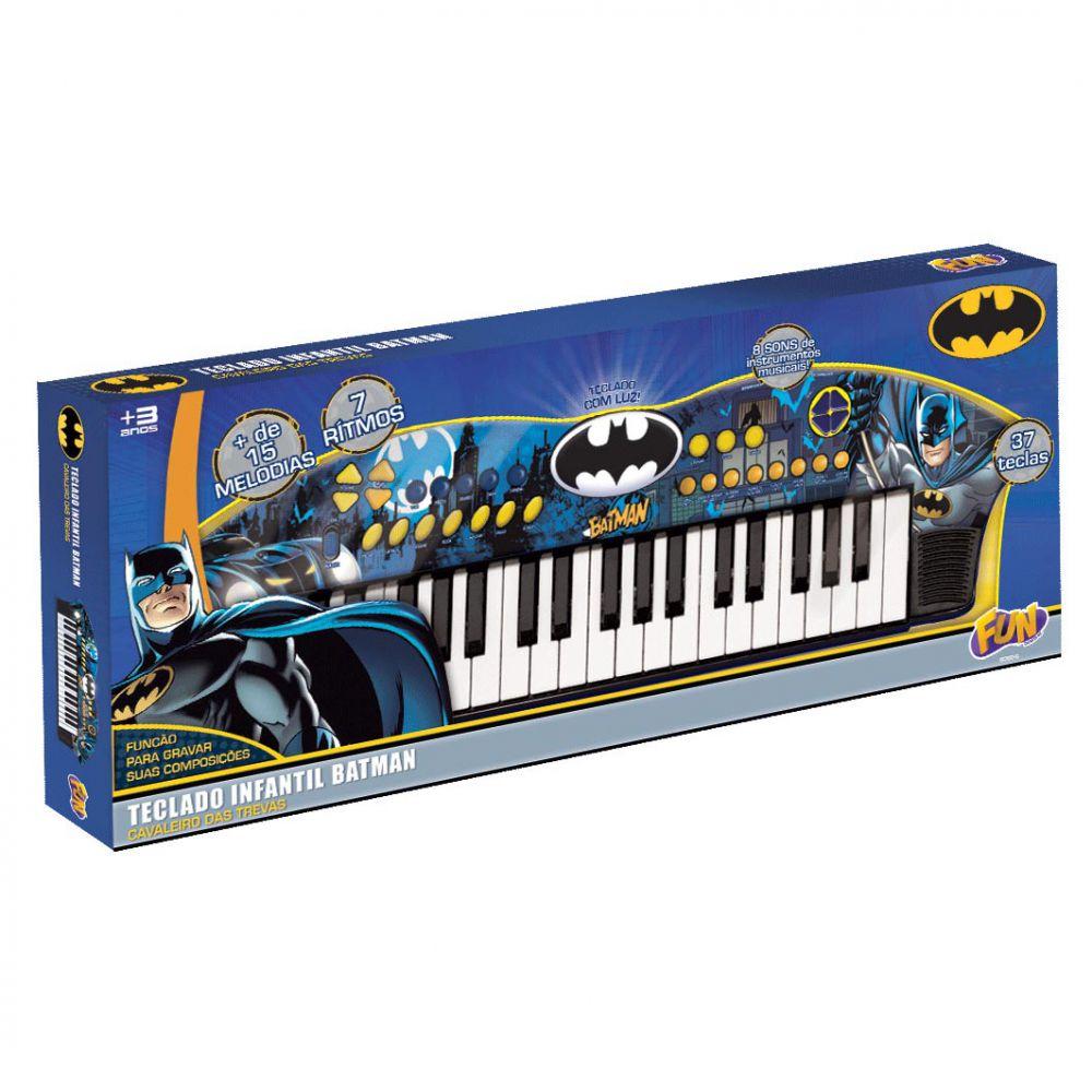Teclado Infantil Batman Cavaleiro Das Trevas 8080-6 Fun