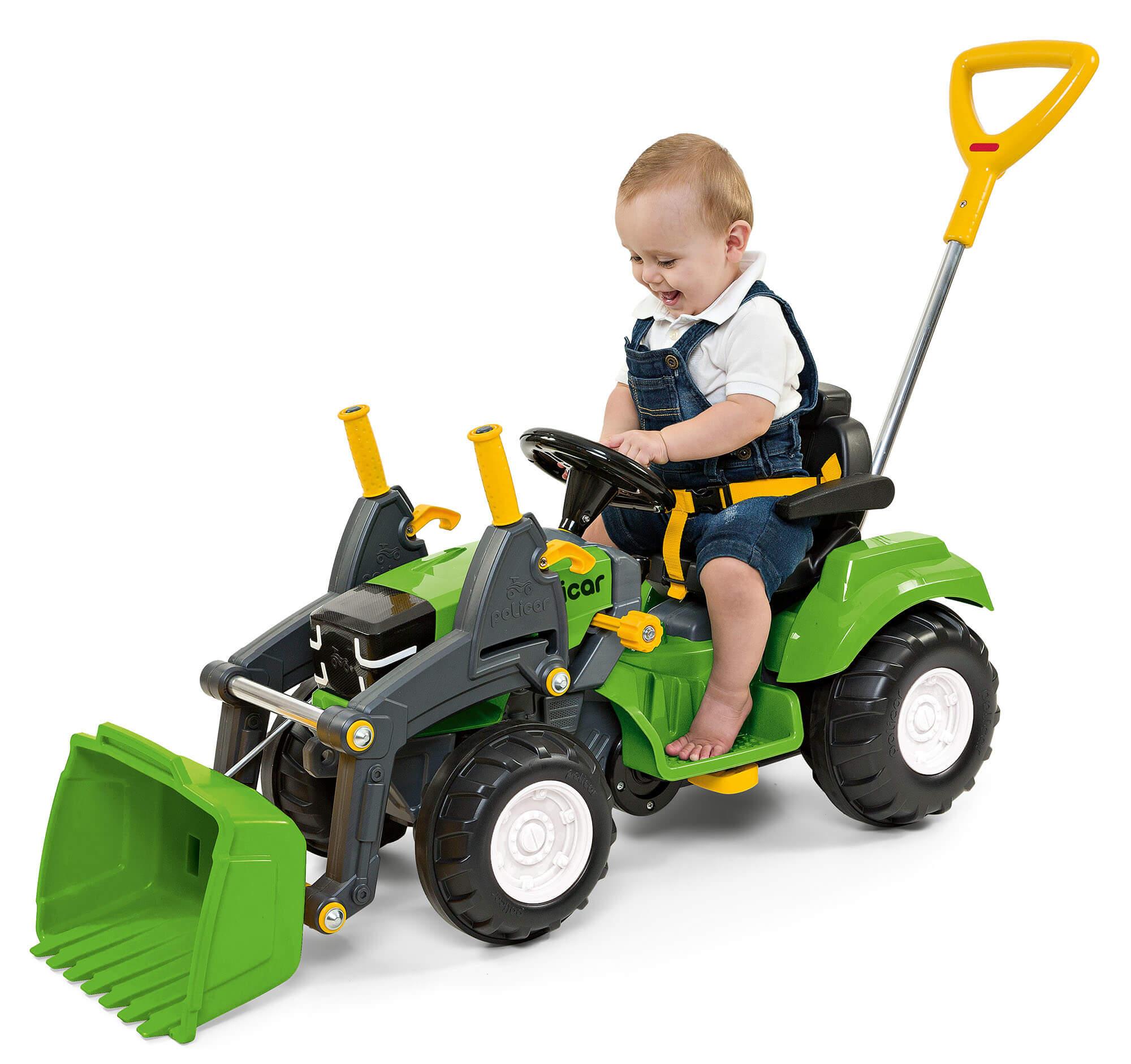 Trator Politractor Passeio E Pedal Com Concha Verde Poliplac