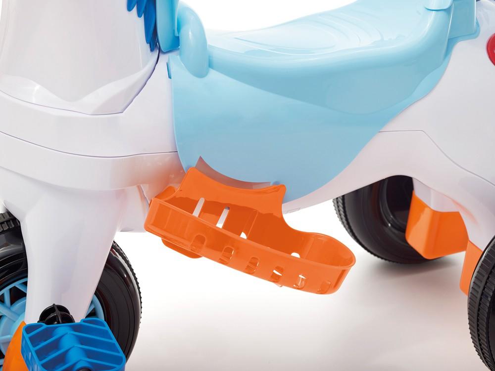 Triciclo Poponei Passeio E Pedal Com Balanço Azul Calesita