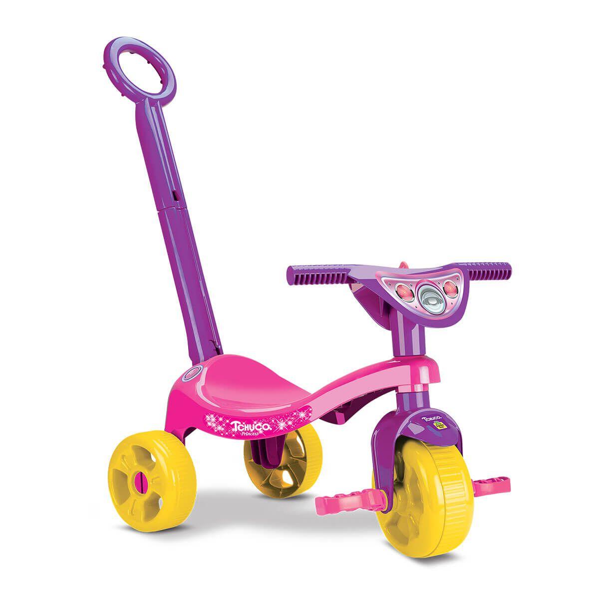Triciclo Tchuco Princess Adele Com Haste 0607 Samba Toys