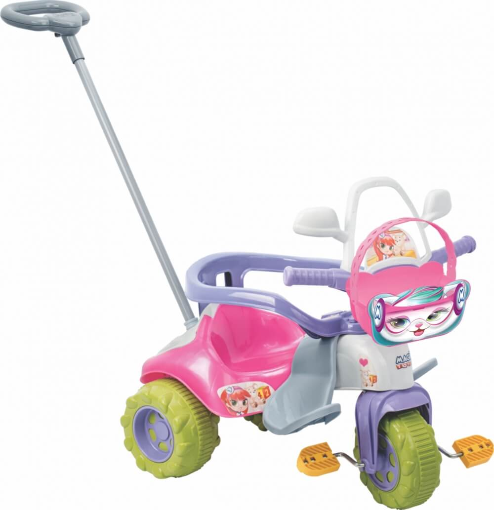 Triciclo Tico Tico Zoom Meg Com Aro 2711L Magic Toys