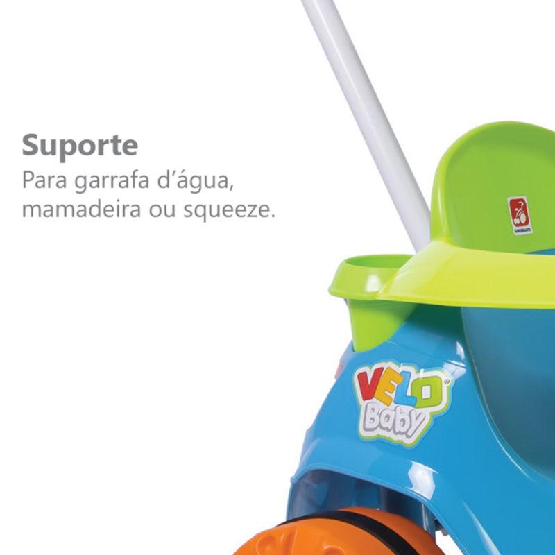 Triciclo Velobaby Passeio E Pedal Azul 206 Bandeirante