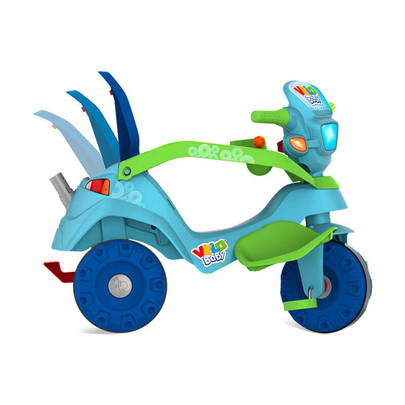 Triciclo Velobaby Reclinável Passeio E Pedal 214 Bandeirante
