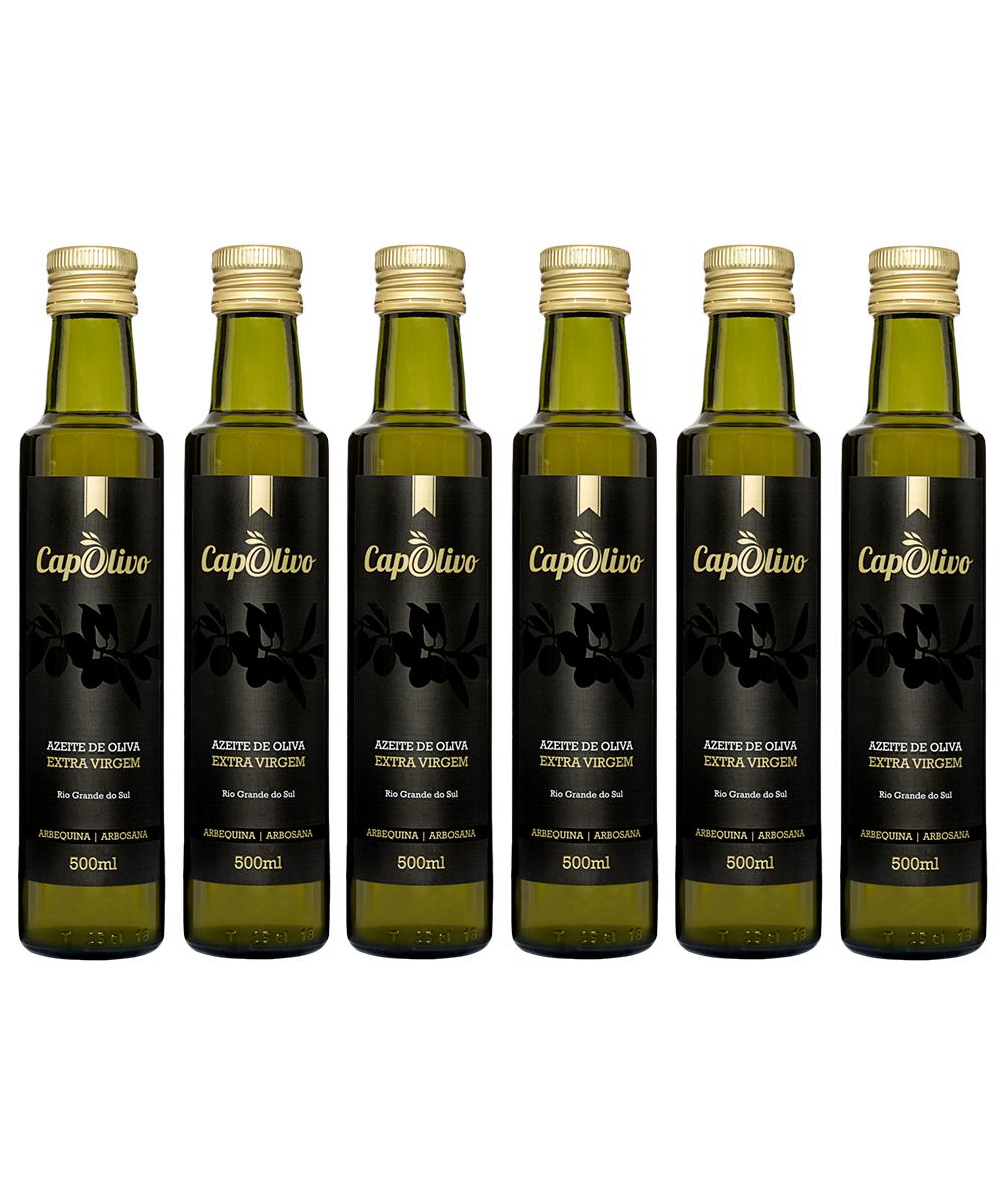 Caixa 6 unidades Azeite de Oliva ARBEQUINA/ARBOSANA 500ml