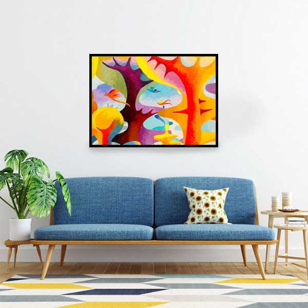 Acrylic colorful painting