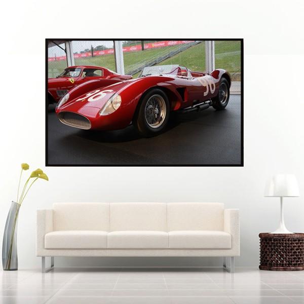 Quadro Fotografia Ferrari Vermelha