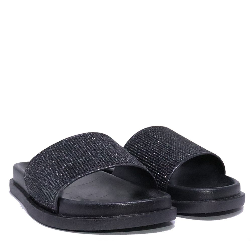 Chinelo Martinez slide preto strass