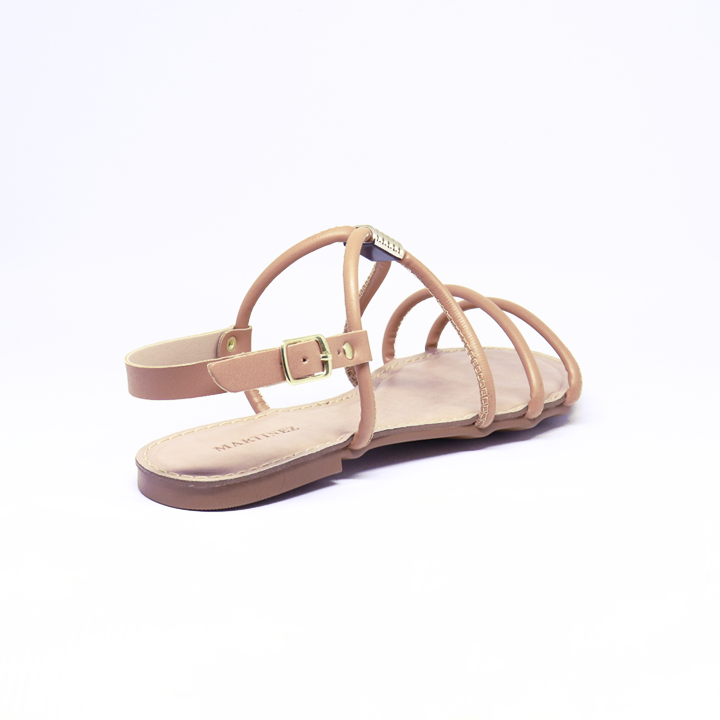 Sandália rasteira Flat Helô antique