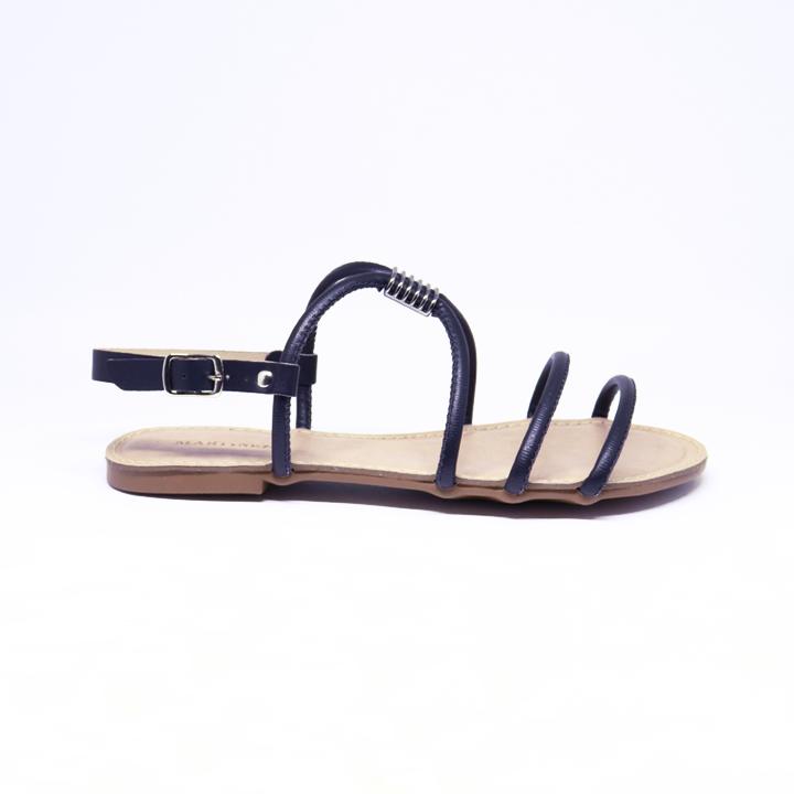Sandália rasteira Flat Helô preto