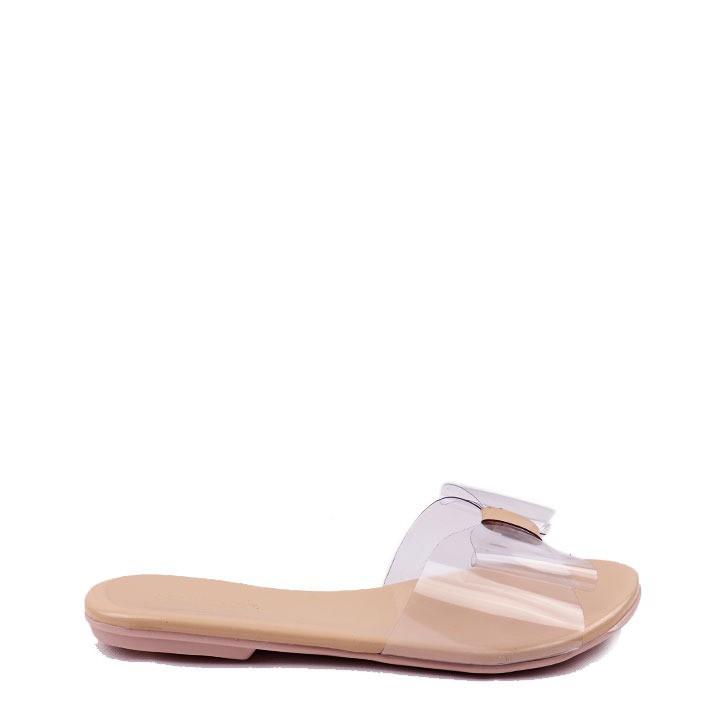 Sandália rasteira verniz vinil