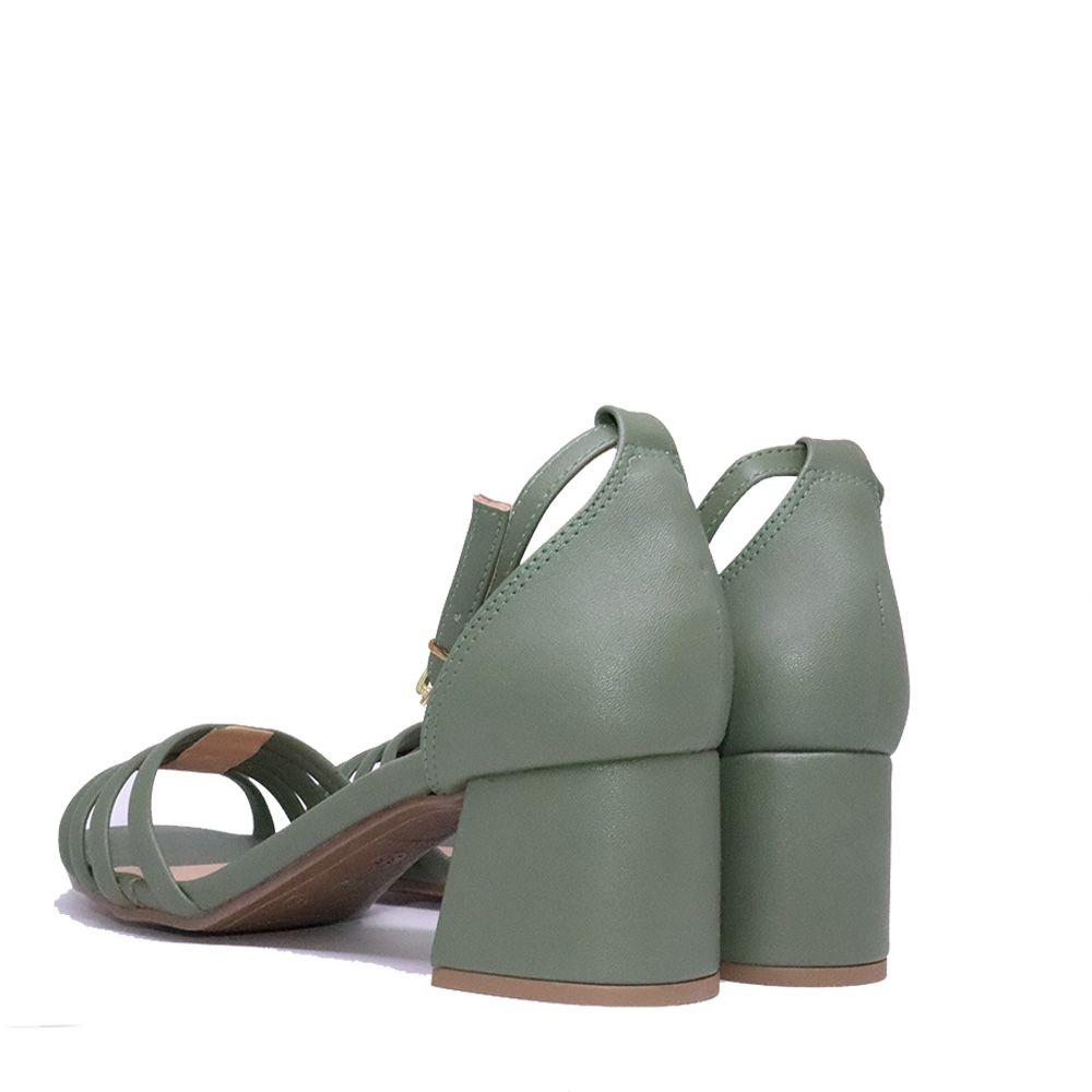 Sandália salto bloco tiras frontais birken.