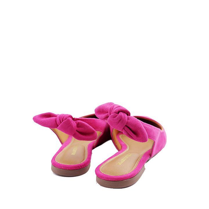 Sapatilha chanel flat pink  laço no tornolezo